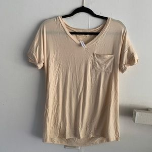 Tops - CREAM POCKET TEE SIZE VARIOUS SIZES